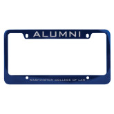 Alumni Metal Blue License Plate Frame-Alumni
