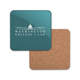 Hardboard Coaster w/Cork Backing-Official Mark