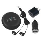 3 in 1 Black Audio Travel Kit-Official Mark