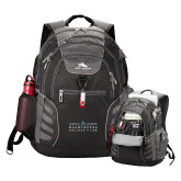 High Sierra Big Wig Black Compu Backpack-Official Mark
