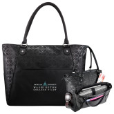 Sophia Checkpoint Friendly Black Compu Tote-Official Mark