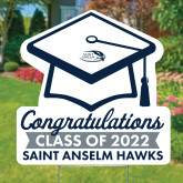 Graduation Cap Yard Sign 24 x 24-Saint Anselm Graduation Sign
