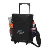 30 Can Black Rolling Cooler Bag-Athletic Mark Hawk Head