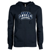 ENZA Ladies Navy Fleece Full Zip Hoodie-Field Hockey