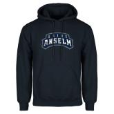 Navy Fleece Hoodie-Saint Anselm Mark Distressed