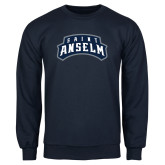 Navy Fleece Crew-Saint Anselm Mark