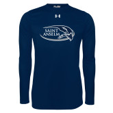 Under Armour Navy Long Sleeve Tech Tee-Athletic Mark Hawk Head