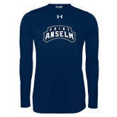 Under Armour Navy Long Sleeve Tech Tee-Saint Anselm Mark
