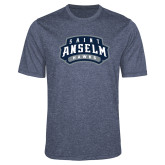 Performance Navy Heather Contender Tee-Saint Anselm Hawks Mark