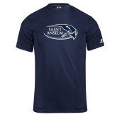 Russell Core Performance Navy Tee-Athletic Mark Hawk Head