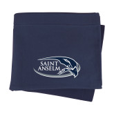 Navy Sweatshirt Blanket-Athletic Mark Hawk Head