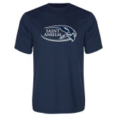 Performance Navy Tee-Athletic Mark Hawk Head