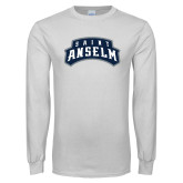 White Long Sleeve T Shirt-Saint Anselm Mark