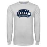 White Long Sleeve T Shirt-Ice Hockey