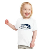Toddler White T Shirt-Athletic Mark Hawk Head