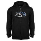 Black Fleece Full Zip Hoodie-Athletic Mark Hawk Head
