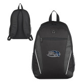 Atlas Black Computer Backpack-Athletic Mark Hawk Head
