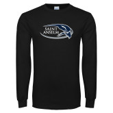 Black Long Sleeve T Shirt-Athletic Mark Hawk Head