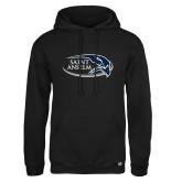 Russell DriPower Black Fleece Hoodie-Athletic Mark Hawk Head