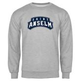 Grey Fleece Crew-Saint Anselm Mark