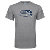 Grey T Shirt-Athletic Mark Hawk Head