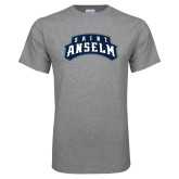 Grey T Shirt-Saint Anselm Mark