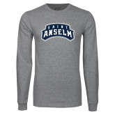 Grey Long Sleeve T Shirt-Saint Anselm Mark