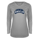 Ladies Syntrel Performance Platinum Longsleeve Shirt-Saint Anselm Mark