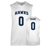 Replica White Adult Basketball Jersey-Hawks Arched Basketball Jersey