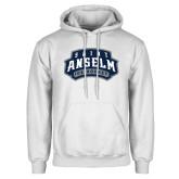 White Fleece Hoodie-Ice Hockey