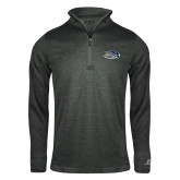 Russell Charcoal Heather 1/4 Zip-Athletic Mark Hawk Head