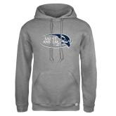 Russell DriPower Grey Fleece Hoodie-Athletic Mark Hawk Head
