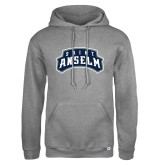 Russell DriPower Grey Fleece Hoodie-Saint Anselm Mark