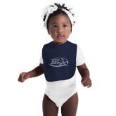 Navy Baby Bib-Athletic Mark Hawk Head