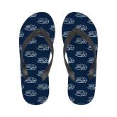 Ladies Full Color Flip Flops-Athletic Mark Hawk Head