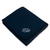 Navy Arctic Fleece Blanket-Athletic Mark Hawk Head