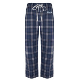 Navy/White Flannel Pajama Pant-Saint Anselm Mark
