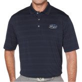Callaway Horizontal Textured Navy Polo-Athletic Mark Hawk Head