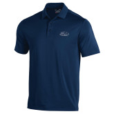 Under Armour Navy Performance Polo-Athletic Mark Hawk Head