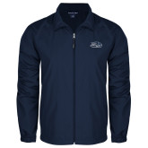 Full Zip Navy Wind Jacket-Athletic Mark Hawk Head