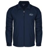 Full Zip Navy Wind Jacket-Athletic Mark Hawk Head