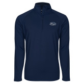 Sport Wick Stretch Navy 1/2 Zip Pullover-Athletic Mark Hawk Head