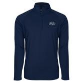 Sport Wick Stretch Navy 1/2 Zip Pullover-Athletic Mark Hawk Head