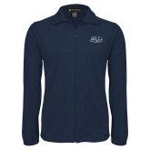 Fleece Full Zip Navy Jacket-Athletic Mark Hawk Head