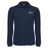 Fleece Full Zip Navy Jacket-Saint Anselm Mark