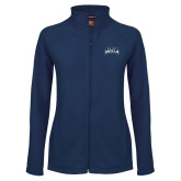 Ladies Fleece Full Zip Navy Jacket-Saint Anselm Mark