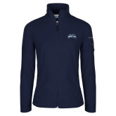 Columbia Ladies Full Zip Navy Fleece Jacket-Saint Anselm Mark