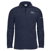 Columbia Full Zip Navy Fleece Jacket-Athletic Mark Hawk Head