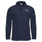 Columbia Full Zip Navy Fleece Jacket-Saint Anselm Mark