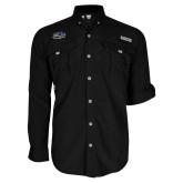 Columbia Bahama II Black Long Sleeve Shirt-Athletic Mark Hawk Head
